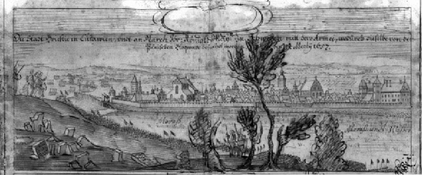 Горад Берасце ў Літве пад час марша Каралеўскага Майстата Швецыі з яго арміяй, вызвалены з Польскай блакады 14 сакавіка 1657 г.